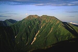 Mount Akaishi - Image: Akaishidake from senmaidake 07 1994 7 31