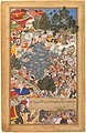 Akbarnama - Battle at Thaneshwar - left folio.jpg