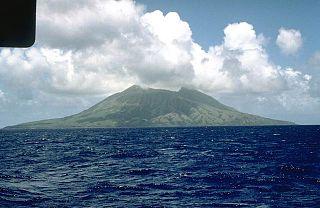 Alamagan island in the Northern Mariana Islands in the Pacific Ocean
