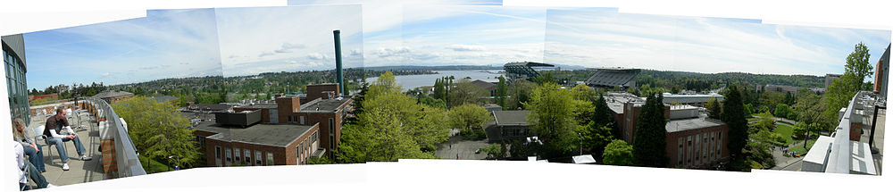 View from the Alberg Terrace, University of Washington.