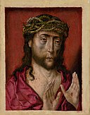 Albert Bouts - Christ with the Crown of Thorns (Tortured Christ) - O 550 - Slovak National Gallery.jpg