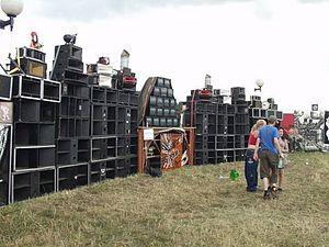 Freetekno - A soundsystem at Czechtek 2004