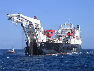 Submarine pipeline - The Solitaire, one of the largest pipe-laying ships in the world.