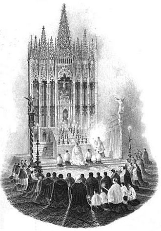 Barcelona Cathedral - Image: Altar mayor de la Catedral de Barcelona
