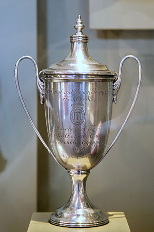 Althea Gibson - Althea Gibson's 1956 Wimbledon doubles trophy, her first of three, and the first Wimbledon trophy won by an African American