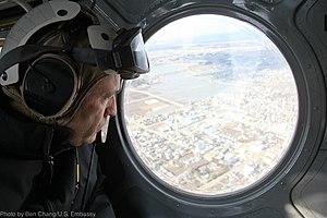 John Roos - Amb. Roos views tsunami-hit area