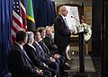 Ambassador Lang delivers remarks at the ceremony to commemorate the 20th anniversary of the embassy bombings (43861696232).jpg