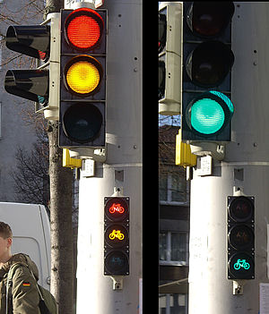 Traffic light coalition - Traffic lights in Kassel