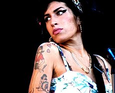Winehouse looking to the side