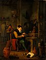 An alchemist in his laboratory. Oil painting by a follower o Wellcome V0017658.jpg