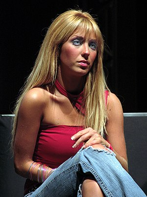 Anahí - Anahí during a press conference in 2006.