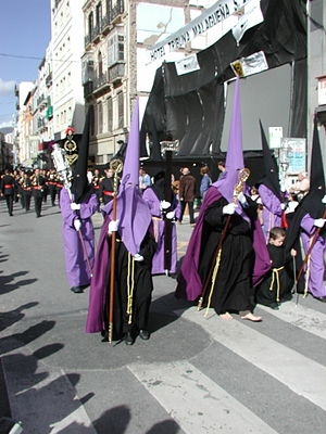 Procession - Christian Easter procession in Malaga, Spain