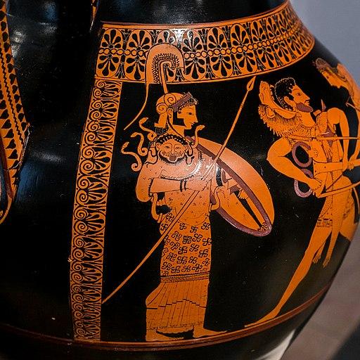 Andokides Painter ARV 3 1 Herakles Apollon tripod - wrestlers (06)