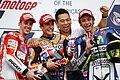 Andrea Dovizioso, Marc Márquez and Valentino Rossi 2015 Austin.jpeg