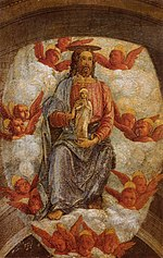Andrea Mantegna - Christ Welcoming the Virgin in Heaven - WGA13958.jpg