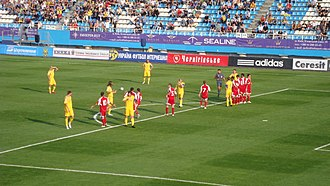 Andorra national football team - Match against Ukraine in 2009.