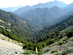 A photo of the San Gabriel Mountains.