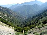 Kuva San Gabriel -vuoristoista.