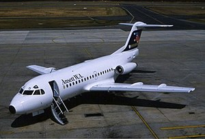 Fokker F28 Fellowship - Ansett W.A. F28-1000 in the early 1980s