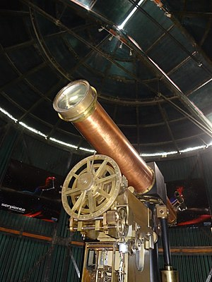 Quito Astronomical Observatory - Image: Antique Telescope at the Quito Astronomical Observatory 002