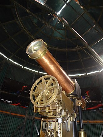 La Alameda Park, Quito - Image: Antique Telescope at the Quito Astronomical Observatory 002