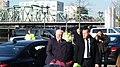 Antrittsbesuch Bundespräsident Steinmeier in Bremerhaven 2018, Verlassen der Limousine.jpg