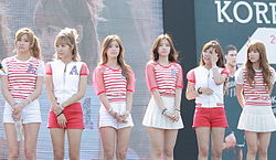 Apink at the NBA 3X Korea event, Yeoeuido park, Seoul, in August 2013.jpg