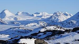 Apusiaajik Glacier - Apusiaajik Glacier seen from Kulusuk Island
