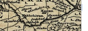 A map of the Aras from 1747.