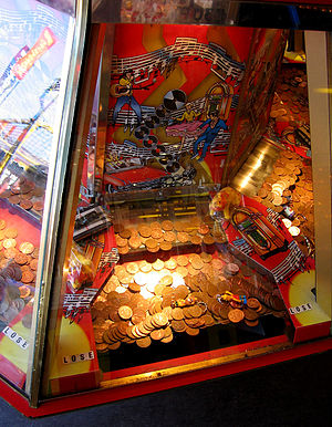 Arcade Coin Pusher, detail