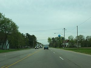 Arena, Wisconsin - The view from highway 14 which runs along the edge of the village.