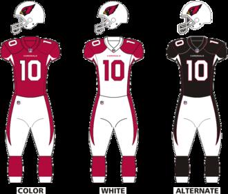 2015 Arizona Cardinals season - Image: Ariz Cardinals uniforms
