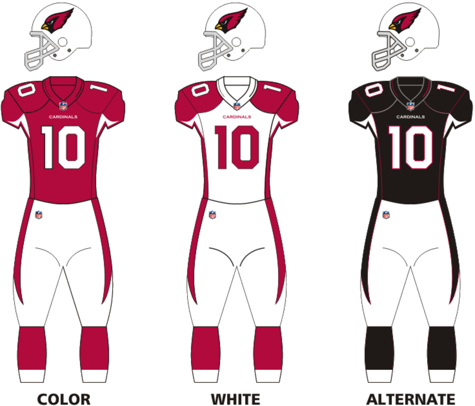 Ariz Cardinals uniforms