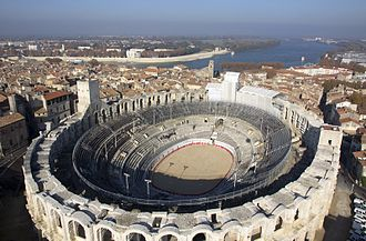 Amphitheatre - Arles Amphitheatre, France: a Roman arena still used for bullfighting, plays and summer concerts.