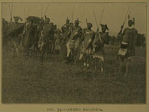 History of Buganda - Armed war-party of Baganda