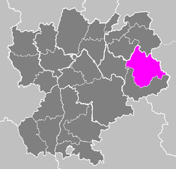 Location of Albertville in Rhône-Alpes