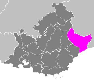 Arrondissement of Nice - Image: Arrondissement de Nice