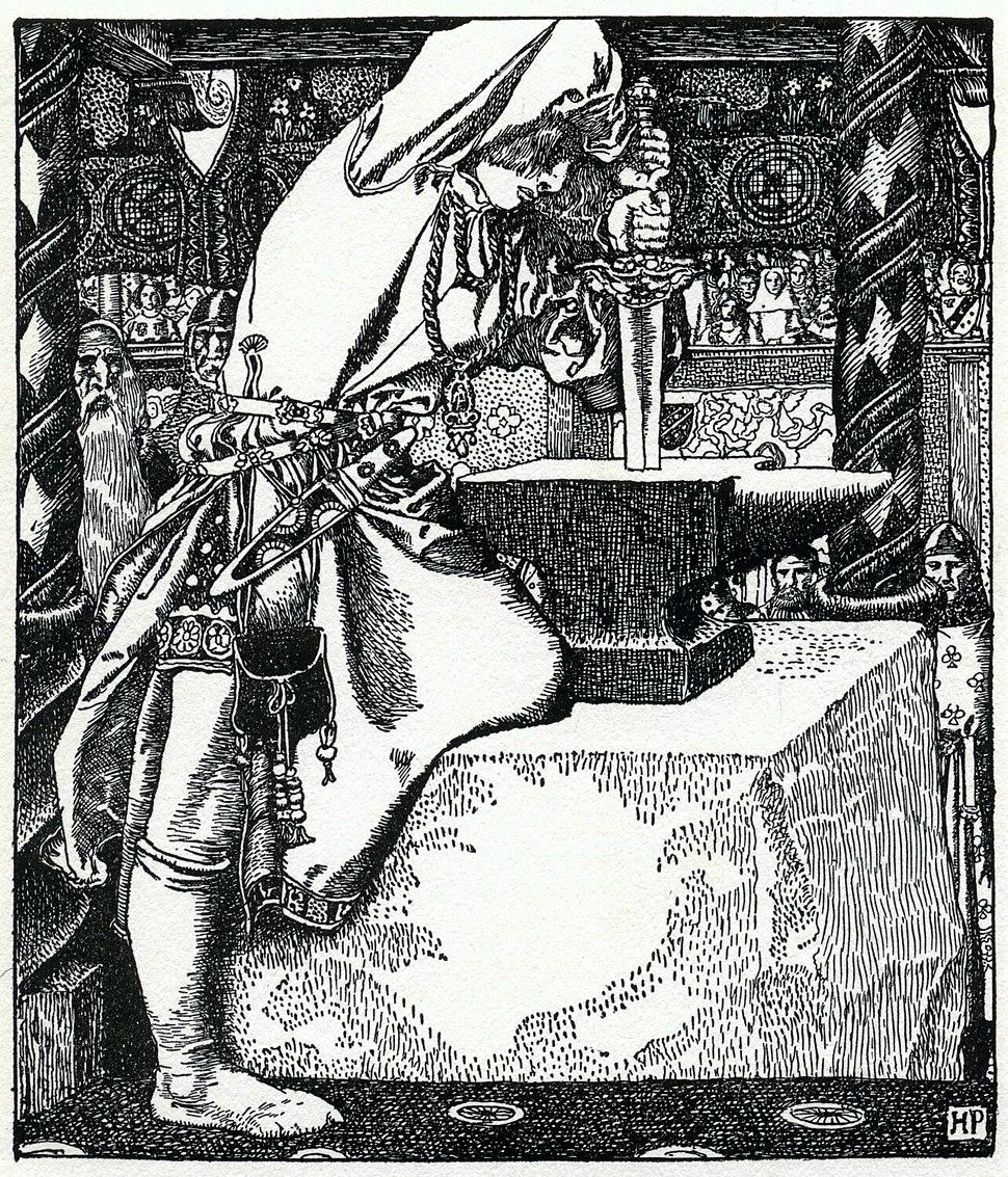 Arthur-Pyle How Arthur drew forth ye sword