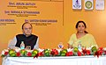 Arun Jaitley and the Minister of State for Commerce & Industry (Independent Charge), Smt. Nirmala Sitharaman in a meeting with the Industrialists and Heads of various Chambers, in Chennai.jpg