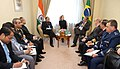 Arun Jaitley meeting the Brazilian Defence Minister, Mr. Paul Belens Jungman Pinto, along with their respective delegates, on the sidelines of the 6th Moscow Conference on International Security, in Moscow.jpg