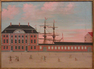 Asiatisk Plads - Danish Asia Company painted by Johannes Rach & H.H. Eegberg