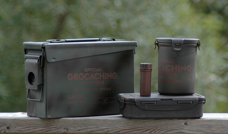 File:Assorted Geocaching Containers.jpg