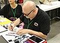 Atl Comic Con 2018 - Ty Templeton drawing Harley Quinn.jpg