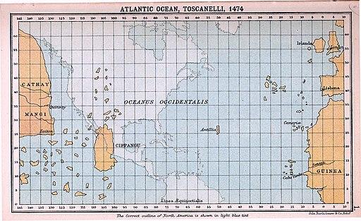 Atlantic Ocean, Toscanelli, 1474