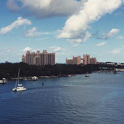 Atlantis Resort on Paradise Island (Nassau), Bahamas from Cruise Ship Docks