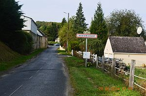 Audignicourt - The road into Audignicourt