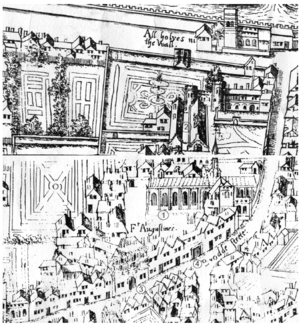 Austin Friars, London - Plan of Austin Friars, 1550s
