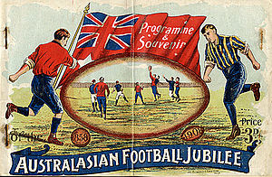 Australian National Football Council - The souvenir programme of the Council's inaugural Interstate Carnival in 1908