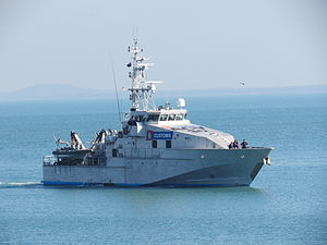Australian Customs Vessel ACV30 Botany Bay returns to Stokes Hill Wharf (2).jpg