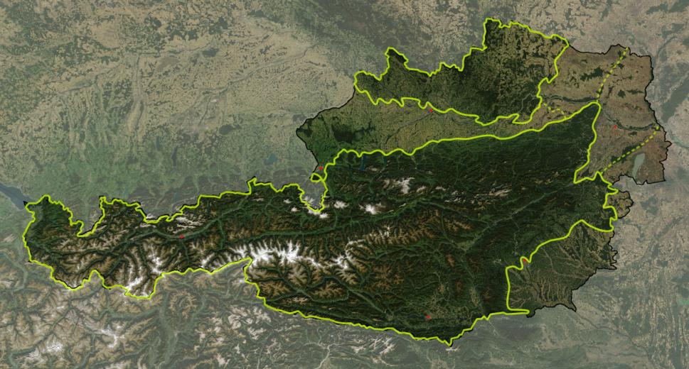 Austria satellite Grosslandschaften markerstyle